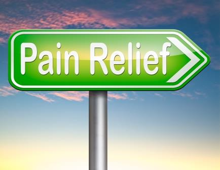 Pain Relief This Way Sign (© image kikkerdirk/depositphotos.com)