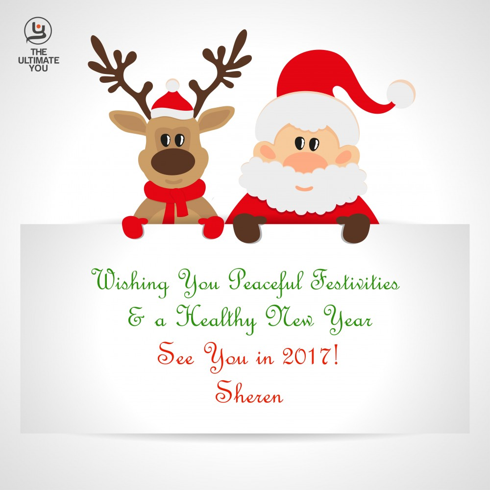 Season's Greetings from Sheren, Santa & Reindeer (© image OSIPOVDIM/depositphotos.com)